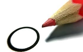 Картинка макро, круг, карандаш