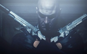 Картинка лысый, Absolution, Хитмен, пистолеты, Hitman, оружие, голова
