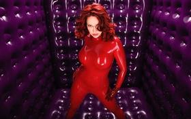 Картинка пурпуровый, latex, латекс, purple, рыжая, Bianca Beauchamp, red
