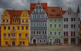 Картинка город, дом, люди, Meißen, Майсен, Мейсен, Meißen-Marktplatz