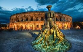 Обои Rome, U Kolezeya, Statuya