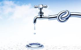 Обои вода, кран, узел