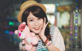 Обои розовая пантера, улыбка, восточная девушка, игрушка
