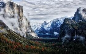 Обои Winter, Yosemite, Tunnel View