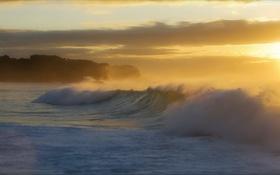 Картинка море, волны, утро