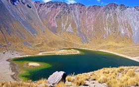 Обои камни, Невадо де Толука, Nevado de Toluca, горы, озеро, Мексика