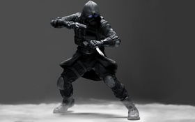 Обои wallpaper, Biohazard, uniform, ops, elbow pads, loader, elite soldier