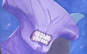 Картинка рисунок, зубы, существо, Dota 2, Faceless Void, Darkterror, Catoffan