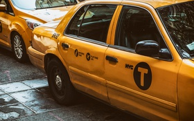 Обои такси, USA, желтое, New York, NYC, Taxi, CAR