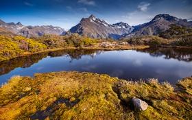 Картинка горы, природа, озеро, панорама