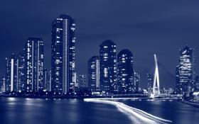 Обои город, Tokyo, Night, Summer