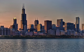 Обои небо, здания, небоскребы, USA, америка, чикаго, Chicago