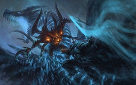 Обои World of Warcraft, diablo, Arthas, wow, blizcon