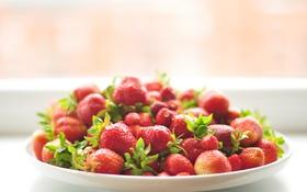 Картинка ягоды, клубника, миска, много