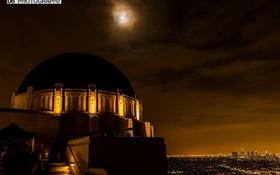 Обои ночь, night, обсерватория, Griffith Observatory