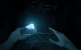 Картинка тьма, темно, руки, телефон, daylight, Zombie Studios