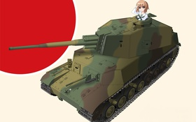 Картинка Art, Girls und Panzer, Nishizumi Miho, Yasu (Defcon-1)