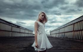 Картинка Взгляд, Heaven and Earth, Белое, Between, Маша Сидорова, Платье