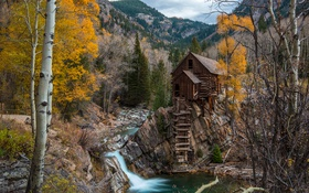 Обои United States, landscape, Crystal Mill