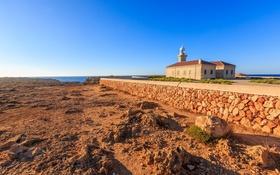 Картинка море, небо, дом, маяк