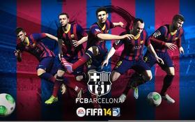 Картинка Fifa 14, FC Barcelona, Messi, Neymar