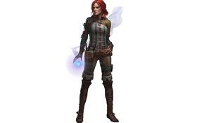 Обои магия, рыжая, Ведьмак, The Witcher, чародейка, Трисс Меригольд, Triss Merigold