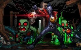 Обои hon, Heroes of Newerth, 8-Bit, Gravekeeper, Pixelkeeper