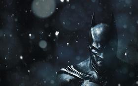 Обои снег, маска, Batman: Arkham Origin, рождество.
