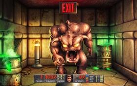 Обои игра, монстр, game, Doom, TJ Townsend, дум