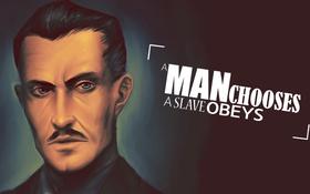 Картинка Slave, Andrew Ryan, Drawing, Man, Video Games, phrase, 1920x1080