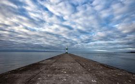 Обои lighthouse, sea, cardigan bay