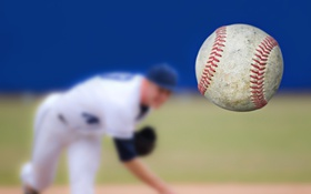 Обои baseball, pitcher, ball