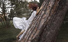 Картинка девушка, природа, дерево