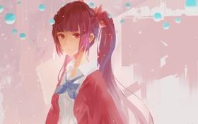 Картинка девушка, аниме, арт, бант, utau, jn3, dong fang zhi zi