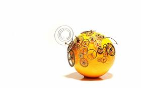 Обои clockwork orange, фон, макро
