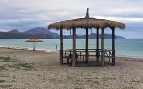 Обои песок, море, пляж, лето, отдых, бередка