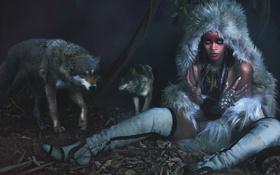Картинка стиль, волки, певица, Rihanna