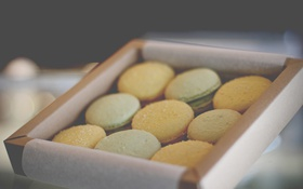 Обои коробка, печенье, сладкое