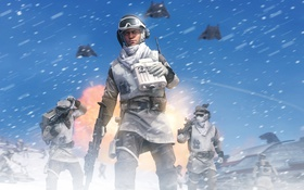 Обои снег, солдат, star wars, повстанец, battlefront, Star Wars: Battlefront