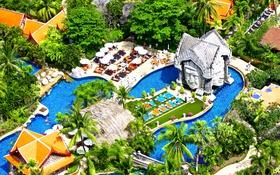 Обои бассейн, Таиланд, курорт, ареал