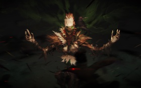 Обои Harbinger of Doom, Fiddlesticks, League of Legends, lol, crow