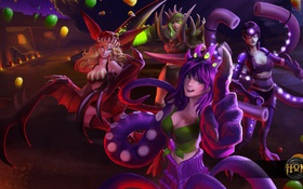Обои hon, halloween, heroes of newerth, Bonnie, Blood Hunter, Preda Tori, Ellie Envy