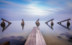 Картинка Long Exposure, Marken, Landschap