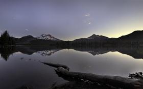 Обои Oregon, Sparks Lake near Bend, природа, горы, отражение, озеро