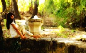 Картинка девушка, задумчивость, природа, мечтательность, photographer, сидя, Giovanni Zacche