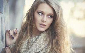 Картинка портрет, свитер, боке, Erika Jusytė