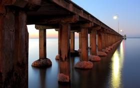 Обои опоры, мост, море