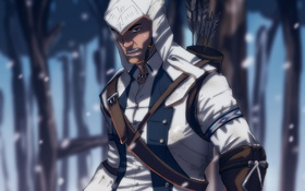 Обои арт, assassins creed, коннор кенуэй, connor kenway