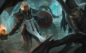 Обои reaper of souls, blizzard, diablo 3, молот, crusader