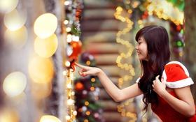 Обои девушка, праздник, азиатка